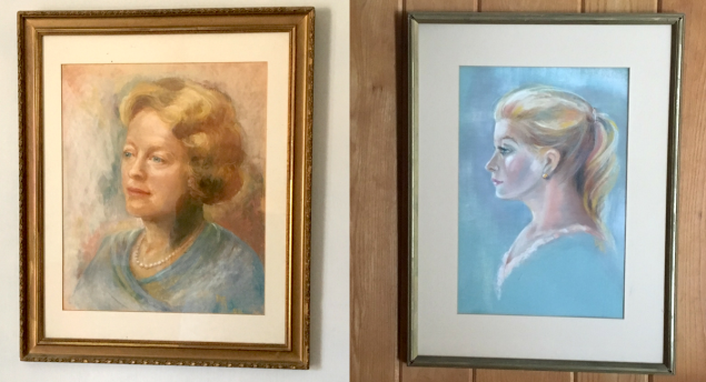decorating with vintage portraits